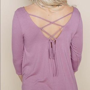 Tunic top with cross tie